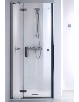 ID Match Square 1000mm Recess Hinge Door With Fixed Panel