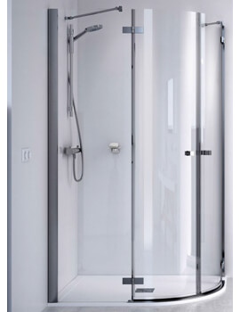 ID Match Square 1200 x 800mm Offset Quadrant Shower Enclosure
