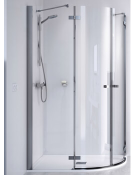 ID Match Square 1200 x 900mm Offset Quadrant Shower Enclosure