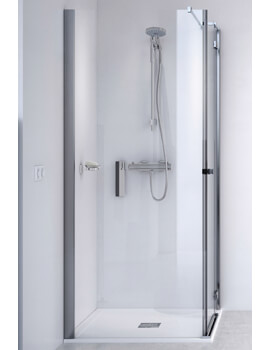ID Match Square 900 x 900mm Hinge Door With Side Panel