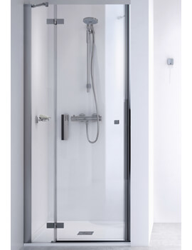 ID Match Square 900mm Recess Hinge Door With Fixed Panel