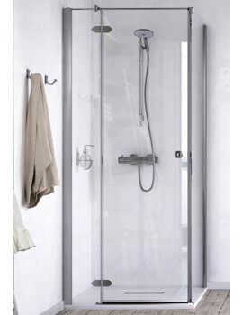 ID Match Time 1000 x 1000mm Hinged Shower Door With Side Panel