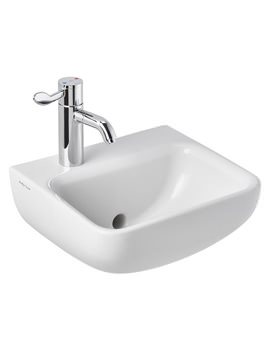 Contour 21+ 1 Taphole Back Outlet Washbasin