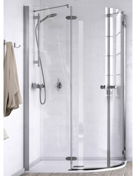 ID Match Time 1200 x 800mm Offset Quadrant Shower Enclosure