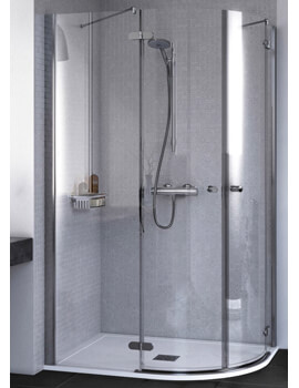 ID Match Round 1200 x 900mm Offset Quadrant Shower Enclosure
