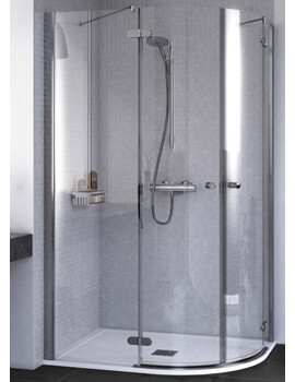ID Match Round 800 x 800mm Quadrant Shower Enclosure