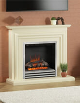 Bemodern Carina 44 Inch Electric Fireplace In Ivory Finish