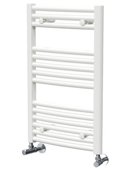 Vogue Chorus 600mm Width Mildsteel Curved Towel Rail