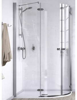 ID Match Time 1200 x 900mm Offset Quadrant Shower Enclosure