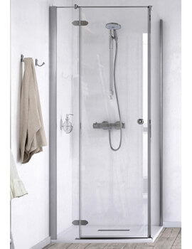 ID Match Time 900 x 900mm Hinged Shower Door With Side Panel