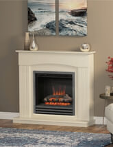 Bemodern Linmere 44 Inch Electric Fireplace In Almond Stone Effect