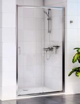 Aqualux Shine Sliding Shower Door 1200mm Polished Silver - FEN0903AQU