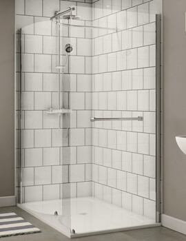 Shine Walk In Shower Enclosure 1400 x 800mm - FEN0878AQU
