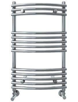 Vogue Melody 600mm Width Mildsteel Curved Towel Rail