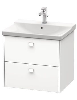Brioso Wall Mounted 2 Drawer Compact Vanity Unit For P3 Comforts Basin