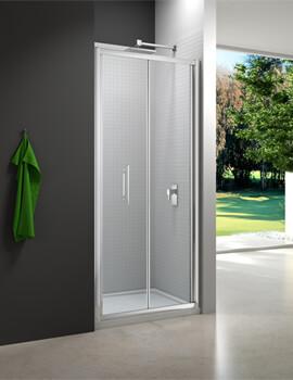 6 Series 6mm Clear Glass Bi-Fold Shower Door 700mm