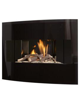 Flavel Castelle Black Slimline Outset Gas Fire