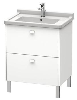 Brioso Floor Standing 2 Drawer Vanity Unit For Starck 3 Basin