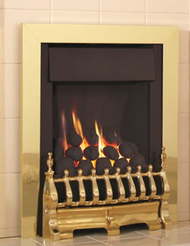 Flavel Windsor Traditional Plus Slimline Inset Open Front Gas Fire Brass