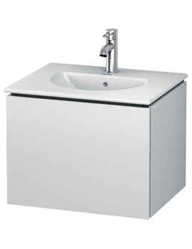 L-Cube Wall Mounted 1 Drawer Vanity Unit For Darling New Basin