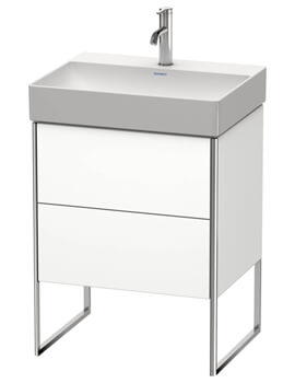 XSquare Floor Standing 2 Drawer Vanity Unit For DuraSquare Basin