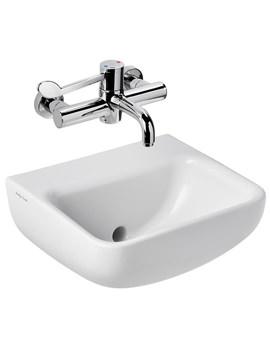 Contour 400mm Back Outlet Washbasin