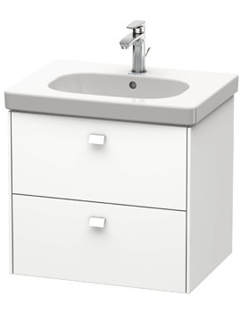Brioso Wall Mounted 2 Drawer Vanity Unit For D-Code Basin