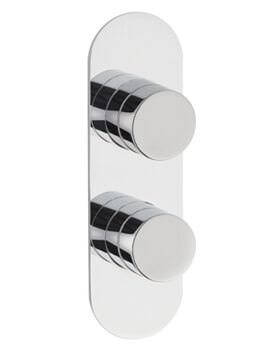 Indus Round Twin Concealed Thermostatic Shower Valve