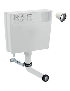 Low-Height Furniture Cistern With Remote Flush Button