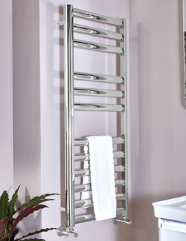 Phoenix Aubrey 500mm Wide Stainless Steel Pre Filled Electric Towel Rail