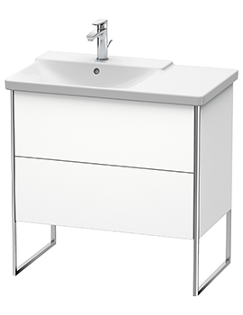 XSquare 810 x 473 x 805mm Floor-Standing 2 Drawer Vanity Unit For Basin Left