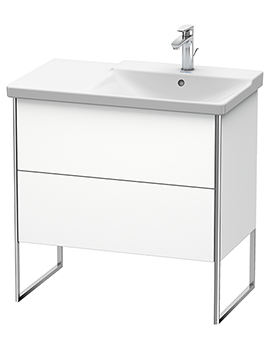 XSquare 810 x 473 x 805mm Floor-Standing 2 Drawer Vanity Unit For Basin Right