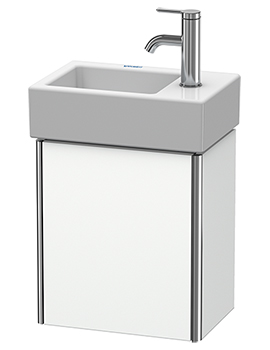 XSquare Wall-Mounted 364 x 240 x 397mm 1 Left-Hand Hinged Door Vanity Unit With Basin