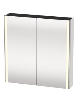 XSquare 800 x 156mm 2 Door Mirror Cabinet