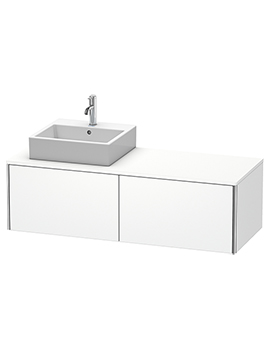 XSquare 1400mm Wall-Mounted Vanity Unit With 2 Pull-Out Compartments For Basin Left
