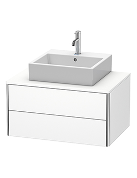 XSquare 800 x 548mm Wall-Mounted 2-Drawer Vanity Unit For Console