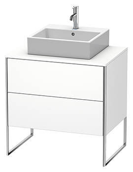 XSquare 800 x 548mm Floor-Standing Vanity Unit With 2 Pull-Out Compartments