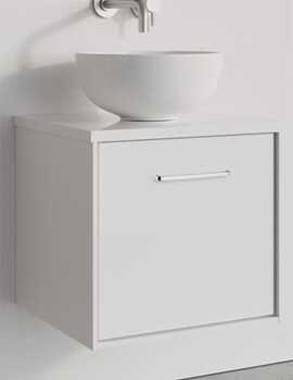 Crosswater Infinity 500mm White Gloss Wall Mounted Vanity Unit