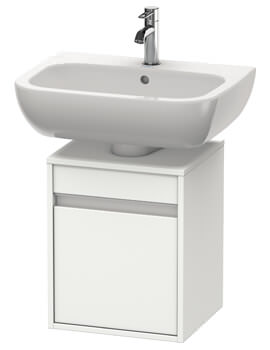 Ketho 400mm Single Door Wall-mounted Vanity Unit For D-Code Basin