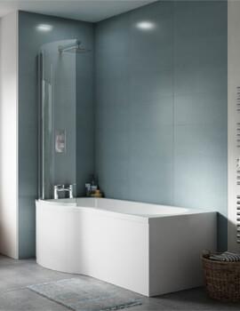 Premeir P-Shaped 1500mm Left Hand Shower Bath