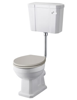 Richmond Low Level WC Pan With Cistern And Flush Pipe Kit