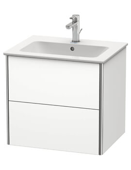 XSquare 2 Drawer Wall Mounted Vanity Unit For ME By Starck Basin