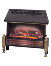 Dimplex Lyndhurst Black Radiant Fuel Effect Fire