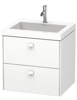 Brioso Wall Mounted 2 Drawer Vanity Unit With C-Bonded Basin