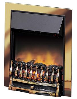 Dimplex Wynford Brass Optiflame Inset Electric Fire