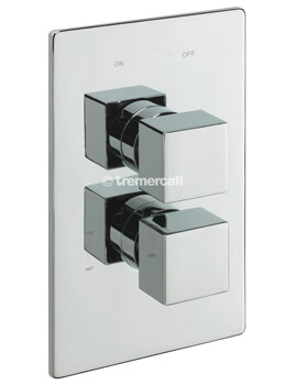 Square Concealed Thermostatic Shower Valve