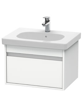 Ketho 600mm 1 Box Drawer Wall-mounted Vanity Unit For D-Code Basin