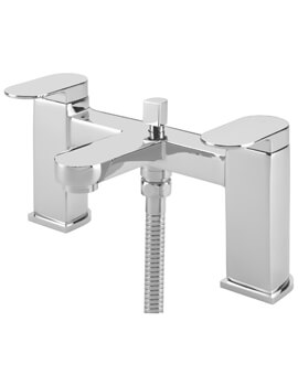 Letto Pillar Bath Shower Mixer Tap With Kit