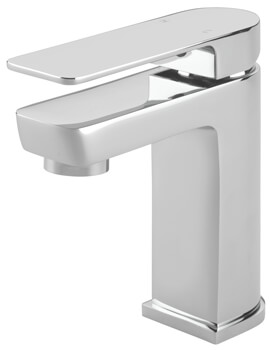 Disc Mono Basin Mixer Tap With Click Clack Waste
