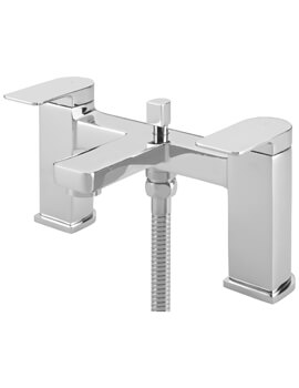 Disc Pillar Bath Shower Mixer Tap With Kit